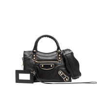 Balenciaga Classic Metallic Edge Mini City Black - Women's Cross Body Bag