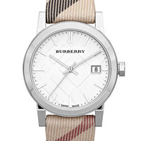 Women's Burberry Medium Check Strap Watch - Nova Check