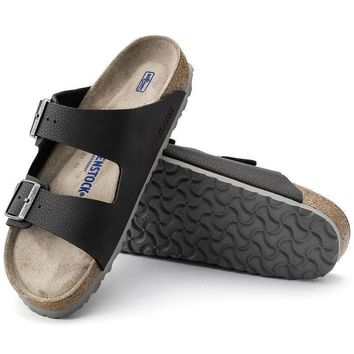 Sale Birkenstock Arizona Soft Footbed Birko Flor Desert Soil Black 1005140 Sandals