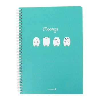 Moongs Hardcover 8mm Lined Spiral Notebook : Mint Green $5.99