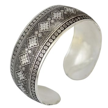 STYLEDOME Vintage Elephant Silver Plated Bangles geometric Cuff Bracelet bangle Trible Gypsy