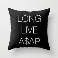 asap rocky Throw Pillow by Sara Eshak | Society6