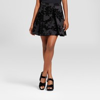 Women's Embossed Velvet Skirt - Necessary Objects Black