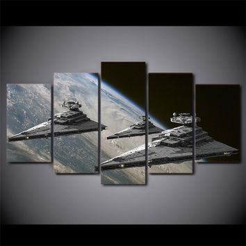 Star Wars Space Star Destroyer Wall Art on Canvas Panel Print Poster Framed UNfr