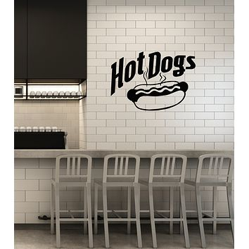 Vinyl Wall Decal Hot Dog Street Fast Food Snack Bar Kitchen Decoration Stickers Mural (ig6015)
