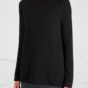 THE ROW Banny black cashmere blend jumper