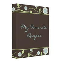 Spring Blooms Recipe Book Vinyl Binders from Zazzle.com