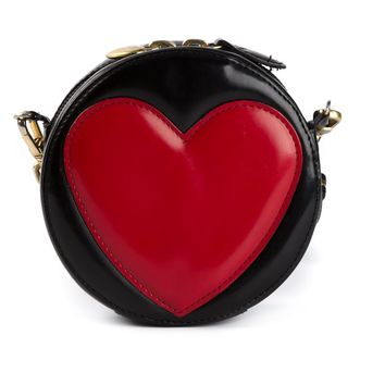 Moschino Vintage appliqué heart cross body bag