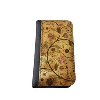 Floral iPhone 5C wallet case MADE IN USA - different designs flip case (Antique)