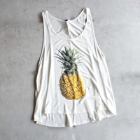 pineapple tank - white
