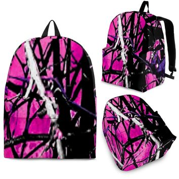 Hot Pink and Purple Camo Backpack