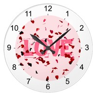 Hearts Of Love Large Clock