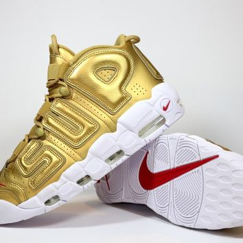 "Nike Air More Uptempo x Supreme ""Suptempo"" Gold"