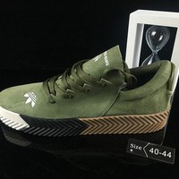 hcxx Adidas X Alexander Wang Suede Causal Skate Shoes Green