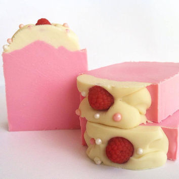 Pink Berry Mimosa- Cold Process Soap with Coconut Milk, Aloe, Shea and Mango Butters.