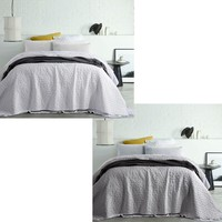 Vintage Washed Microfibre Coverlet Pebble by Accessorize