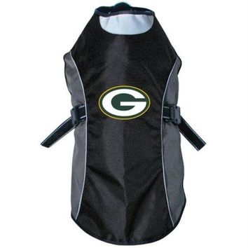 spbest Green Bay Packers Water Resistant Reflective Pet Jacket