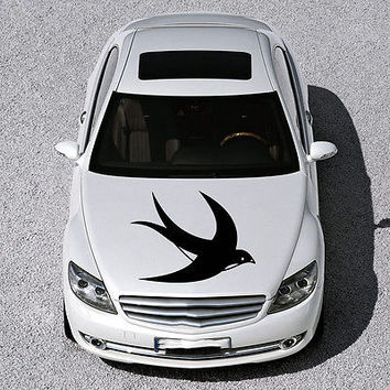 BEAUTIFUL BIRD FLIES ANIMAL ART DESIGN HOOD CAR VINYL STICKER DECALS SV1289