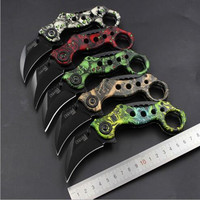 Camping Tool Slaughter Fade Counter Strike Karambit Handmade Knives Hunting Fighting Tactical Survival Knife N32
