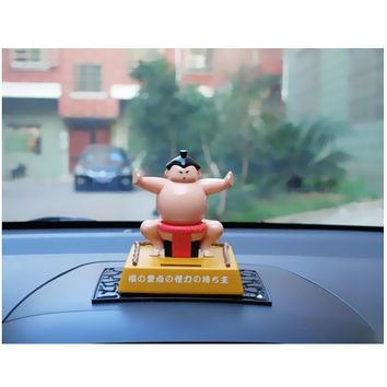 New Arrivals Funny Solar Power Bobblehead Toy Figure Nohohon Japanese Sumo Wrestler Novelty Classic Toys for Kid Adult Best Gift