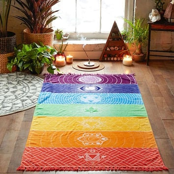 7 Chakras Colored Tapestry