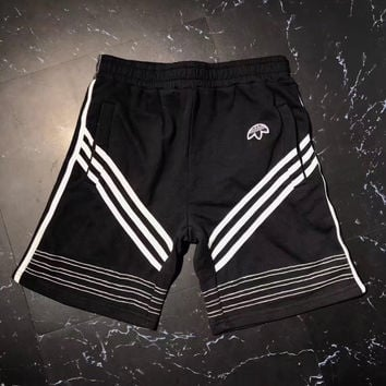 Adidas Alexander Wang Black Casual Shorts (Mid Long)