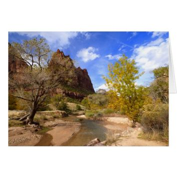 """Court of the Patriarchs"", Zion NP, Blank Inside Card"