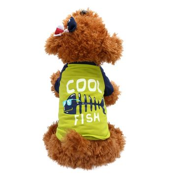 """Cool Fish"" Dog Summer Tee"