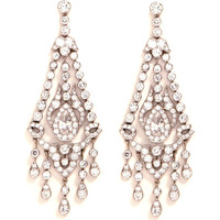 Vintage Art Deco Platinum and Diamond Chandelier Earrings by Simon Teakle Now Available on Moda Operandi