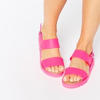 ASOS FLISS Two Part Jelly Flatforms