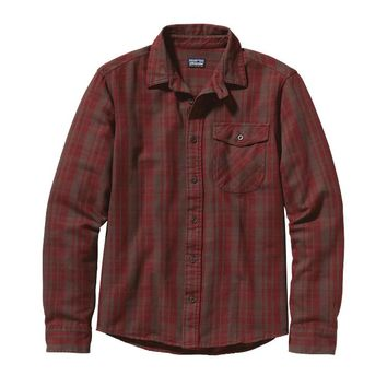 Patagonia Men's Long-Sleeved Iron Ridge Shirt | Swedish Fiddle: Java Brown