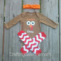 Baby Thanksgiving Onesuit, Personalized Thanksgiving Outfit, My First Thanksgiving Onesuit, Thanksgiving Clothes, Turkey Onesuit, Gobble