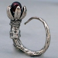 garnet ring by herbanelements on Etsy
