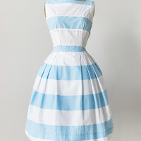 vintage 1950s sky blue stripes sundress [Par La Plage Dress] - $148.00 : Vintage & Vintage Inspired Clothing, Adored Vintage, Portland Oregon