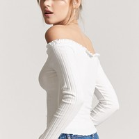 Ribbed Off-the-Shoulder Top