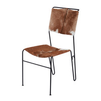 Lazy Susan Goatskin Tuft Side Chair - 161-004