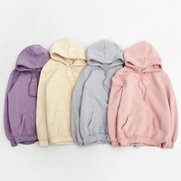 hoodies women autumn 2017 winter korean style cute hoodie women kawaii clothes embroidery letters pink harajuku sweatshirt women