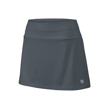 "Wilson Girl's Core 11"" Tennis Skirt - Dark Grey"