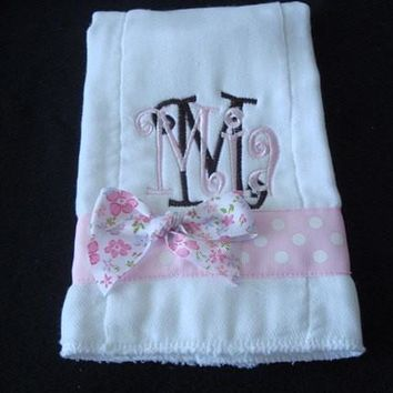 Mia Personalized Burp Cloth - Ready To Ship