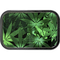 Black and Green MARIJUANA Belt Buckle
