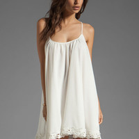 Lovers + Friends Sunshine Dress in White with Lace from REVOLVEclothing.com