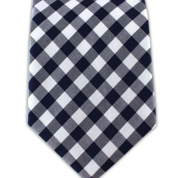 COTTON TABLE PLAID - NAVY