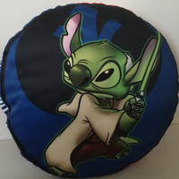 disney parks throw pillow star wars stitch as yoda and as palpatine new with tags