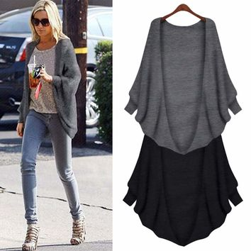 Batwing Knitted Cardigan Wrap