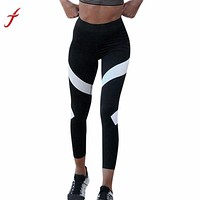 Striped Workout  High Waist Legging