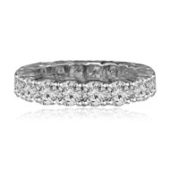 4.5 CT. (4mm) Intensely Radiant Diamond Veneer Set in 14K Solid Gold All Around Classic Engagement/Wedding Eternity Band Ring. 635R103K