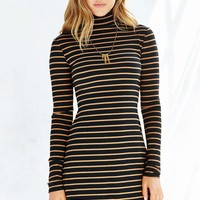 BDG Kaylyn Ribbed Black Turtleneck Dress - Urban Outfitters