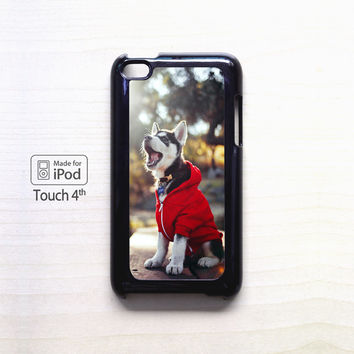 Cute Husky Puppy for iPod 4/iPod 5 case