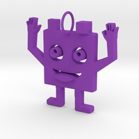 2 faces cute monster pendant by lalylauradlm on Shapeways