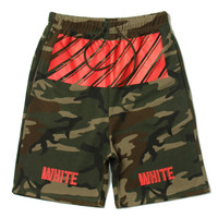 Casual Pants Camouflage Stripes Cotton Summer Men's Fashion Couple Shorts [10277046471]